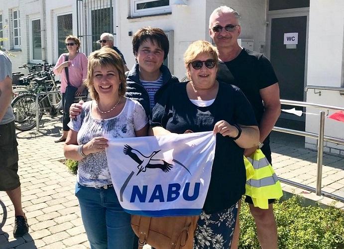NABU Garbsen demonstriert gegen den Südlink