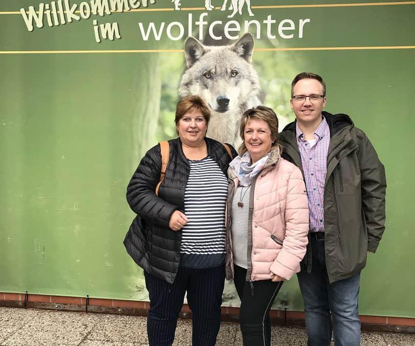 Viele Informationen im Wolfscenter Dörverden